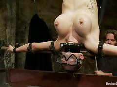 Torturing Sex Rain DeGrey By Sinking Her Upside Down in Water Tank BDSM Vid