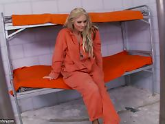 Phoenix Marie the hot blonde inmate masturbates