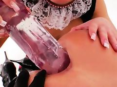 Unbelievable deep gapped anal licking