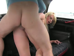 Bonnie is sucking a dick in the fake taxi