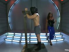 Cute ebony tranny Jayla Marie rips Logan Vaughn's ass apart