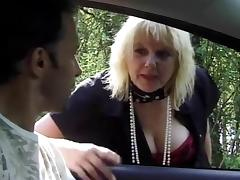 French mature threeones outdoors