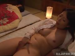 Asian mature shows off her wild cock sucking skills