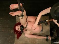 Sarah Blake loves getting some breast bondage