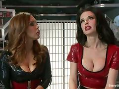 Babes in latex are enjoying a mutual anal toying
