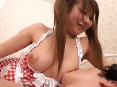 Ms. Kitagawa gets cum all over her curvy body