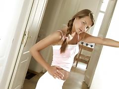 Hot striptease by a smoking hot teen Klara