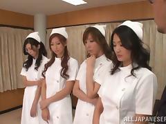 Nurse, Asian, Blowjob, Bra, Cum in Mouth, Cumshot