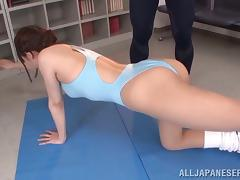 Ai Nikaidou gets her Japanese pussy toyed to orgasm indoors
