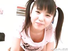POV with a horny Japanese teen with some passion