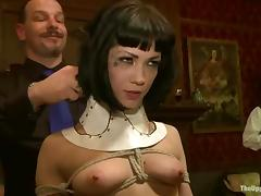 Bunch of poor slave girls get used and abused in the fortress of BDSM porn video