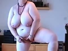 big beautiful woman shows her fabulous love muffins and masturbates
