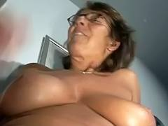 Large tit granny solo