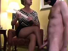Sniffing Cumming on Nylon Feet