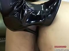 Vicious mastix with latex Agonorgasmos depraved femdom