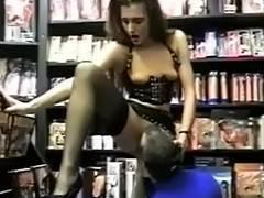 Preggo SADOMASOCHISM cutie screwed in sexshop