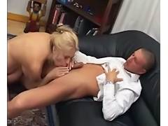 Blonde mom with sexy mature body gets anal fucked