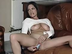 British floozy Rebekah plays with herself in various scenes