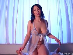 Minami Ayase pleases her man with a blowjob and a titjob