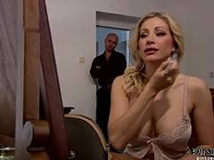 Mommy, Blonde, Blowjob, Fucking, HD, Italian