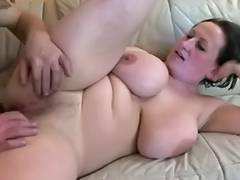 Busty mature whore masturbating with a sex toy