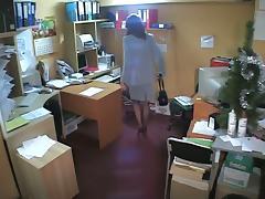 Office, Hidden, Masturbation, Office, Pussy, Spy