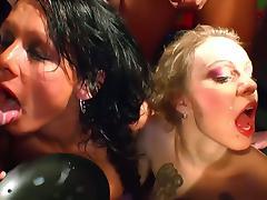 Brunette and blonde sluts goo girl initiation