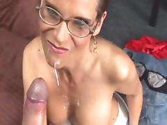 All, Facial, Glasses, Handjob, HD, Masturbation