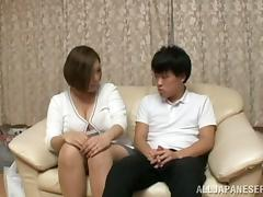 Reiko Yumeno pleases some guy with a wonderful titjob