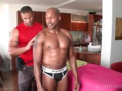 Hot body massage with gay studs