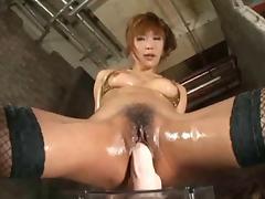 Hot Asian Girl Riding Big Dildo