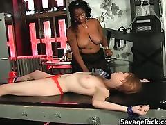 Black Lesbian, BDSM, Big Tits, Black, Blonde, Bondage