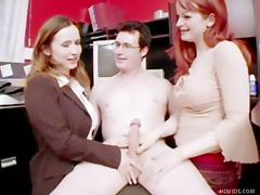 Boss, Babe, Blowjob, Boss, Brunette, CFNM