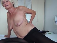 Undressing, Bed, Blonde, European, Horny, Masturbation