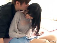 Slender Kana Aono gets her hairy vagina fucked hard