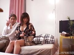Cock Riding and Sucking Before Missionary and Doggy Fucking for Asian