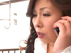Mature Japanese slut gets fucked hard by younger man porn video
