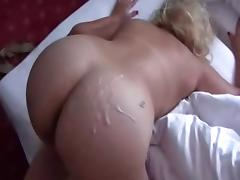 cum on wife's ass