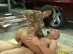Adriana Milano gets fucked like never before in a garage