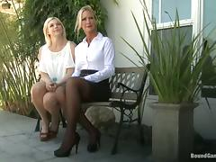 Sex hungry blonde girl sucks dicks and gets fucked