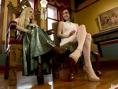 Bondage and Foot Fetish Action in Lesbian Femdom for Veruca James