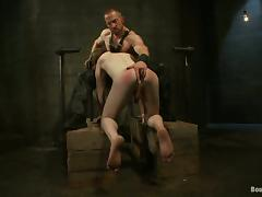 Adam Herst plays BDSM games with Alex Summers in a basement