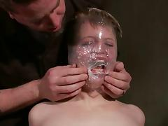 Alani Pi gets restrained and fucked with toys in a basement