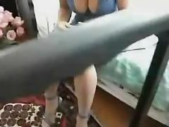 Naugthy blonde toying