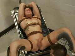 Parker London rides Trent Diesel's cock and tortures him afterwards