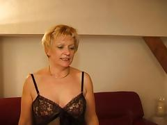 FRENCH MATURE 7 blonde mom milf and a young man porn video
