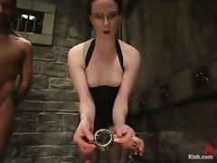 Rope Bondage and Cock Torture in Femdom Vid with Claire Adams