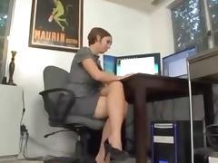 Slutty Cougar Lets Her Boss Fuck Her For A Raise