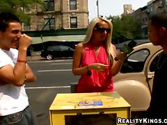 Reality Porn Action with Blonde Amateur Having Sex at Work