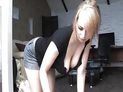 Downblouse blondie porn video